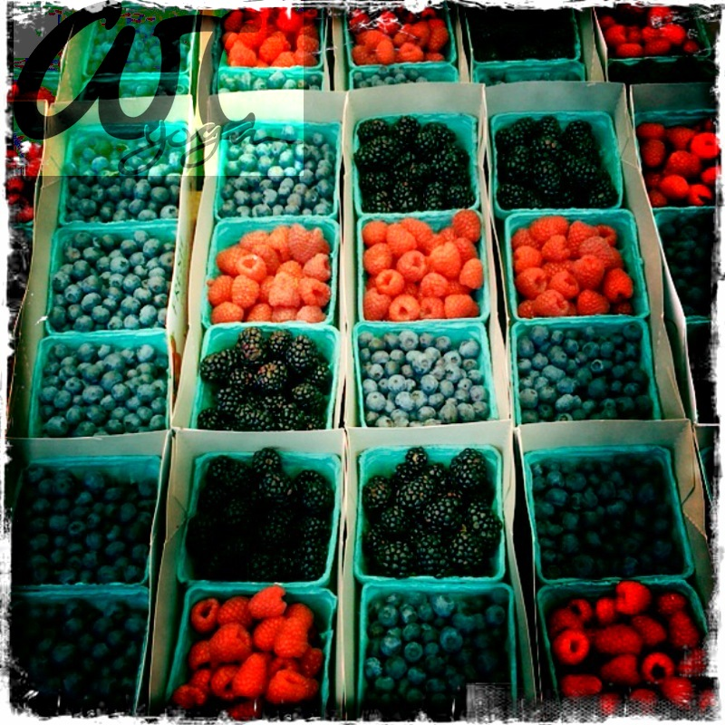 a berry colorful day at the farmers market