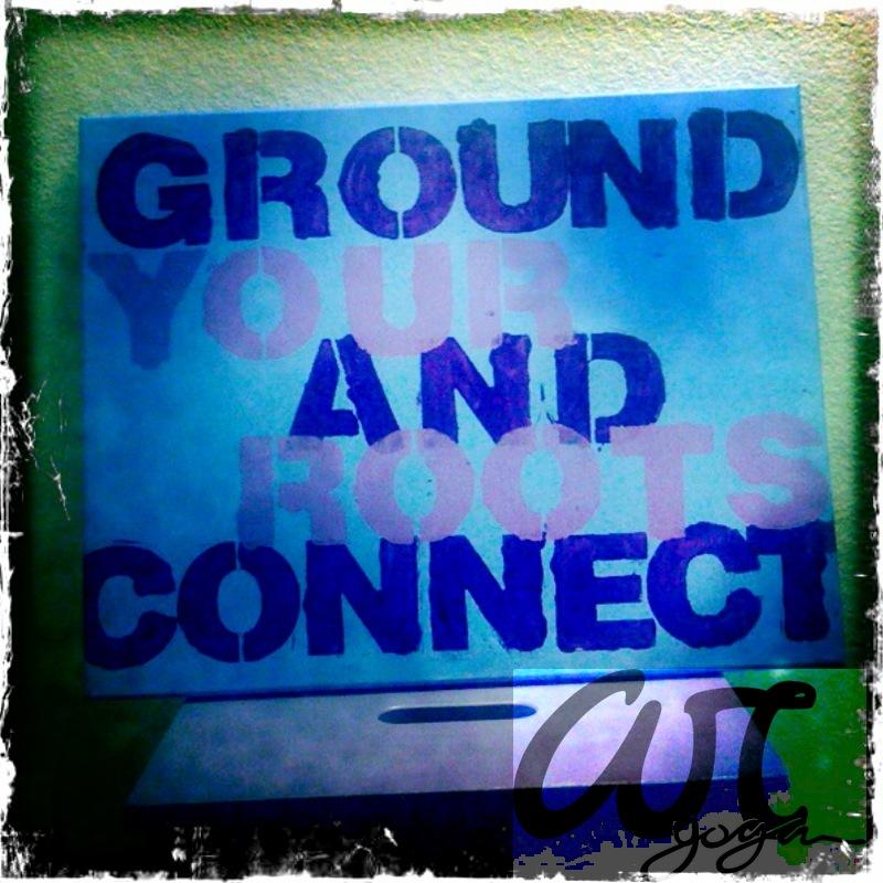 ground yourself.