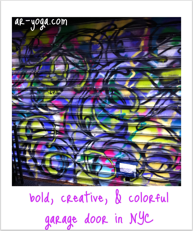 colorful nyc garage door