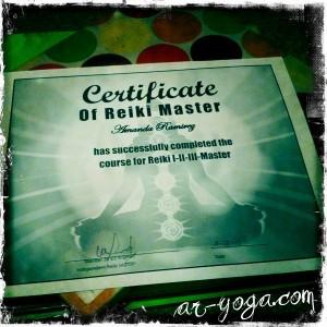 Reiki Master Certificate