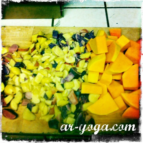 winter squash and potatoes