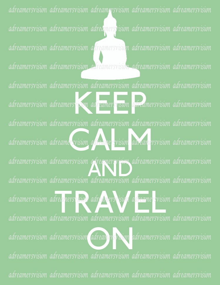 keep calm and travel on ar-yoga